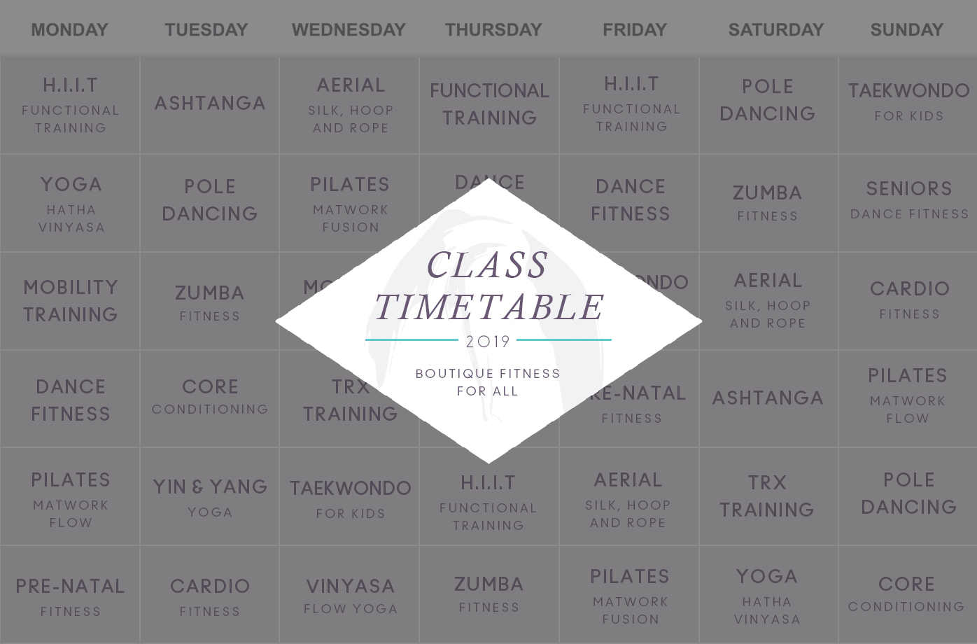 Timetable poster